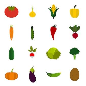 Set di icone di verdure