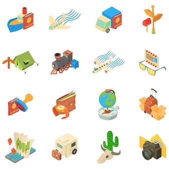 Set di icone di viaggio