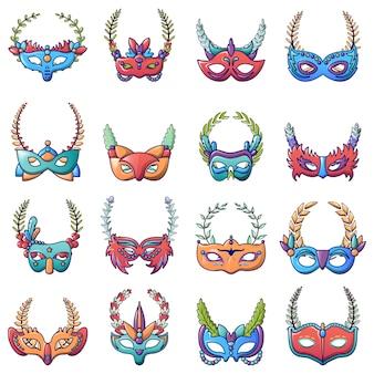 Set di icone di vittoria in maschera