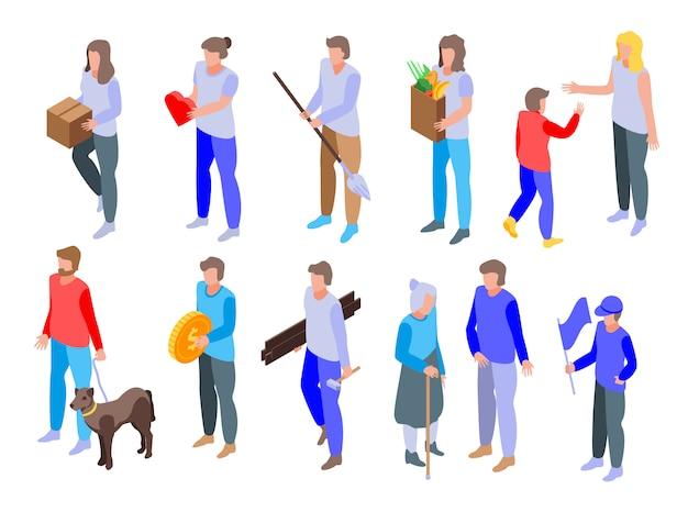 Set di icone di volontariato