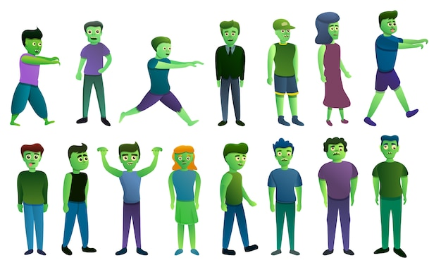 Set di icone di zombie