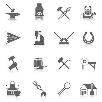 Set di icone fabbro