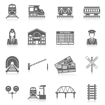 Set di icone ferroviarie