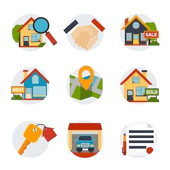 Set di icone immobiliari
