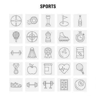 Set di icone linea sport