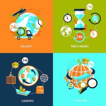 Set di icone logistiche