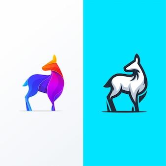 Set di icone logo cervi colorati