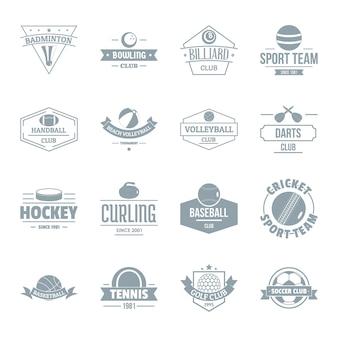 Set di icone logo palle sport