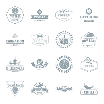 Set di icone logo spezia