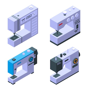 Set di icone macchina da cucire