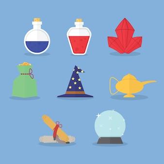 Set di icone magiche