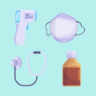 Set di icone mediche vettoriali