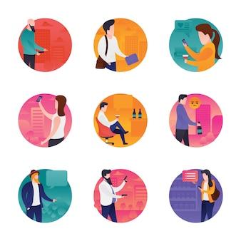 Set di icone meetup