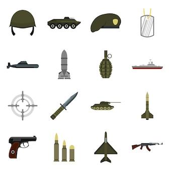 Set di icone militari