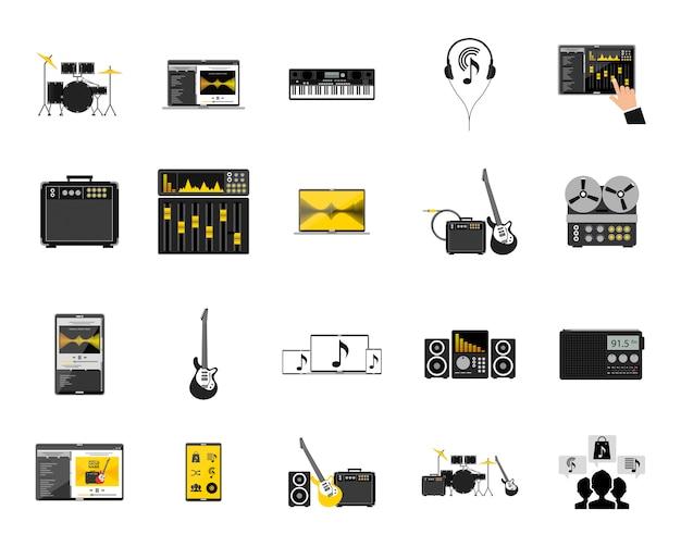 Set di icone musicali
