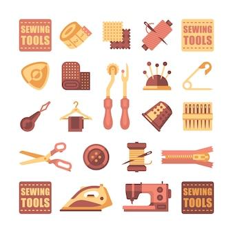 Set di icone per cucire