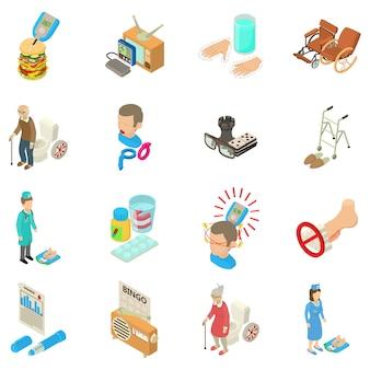 Set di icone per diabetici