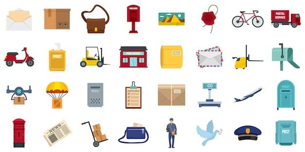 Set di icone postino