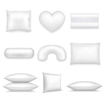 Set di icone realistiche di cuscini