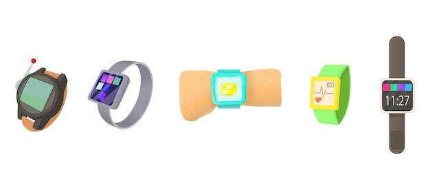 Set di icone smartwatch