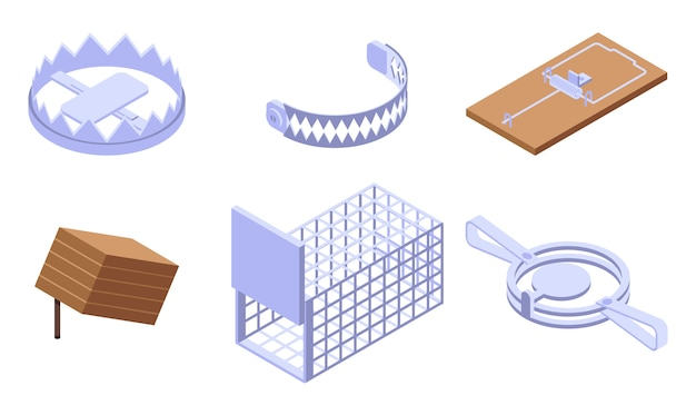 Set di icone trappola