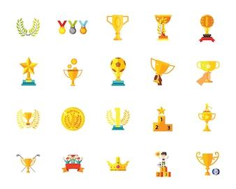 Set di icone trofeo