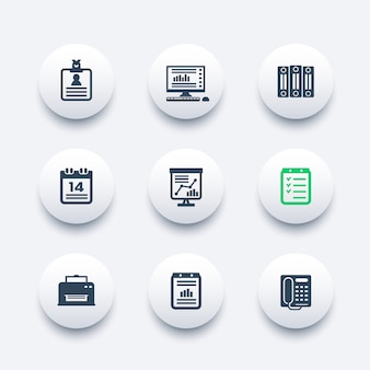 Set di icone ufficio