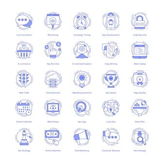Set di icone vettoriali seo