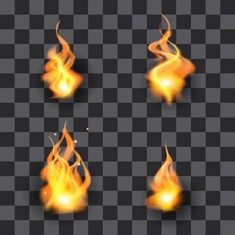 Set di illustrazione della fiamma