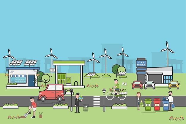 Set di illustrazione di ambientale
