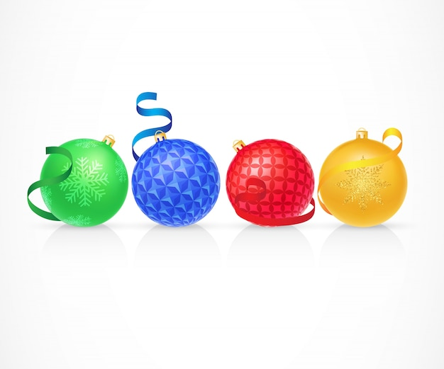 Set di illustrazione di palle di natale