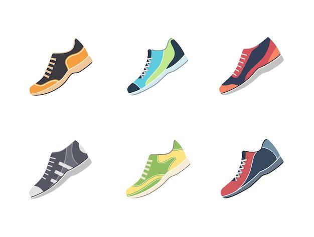 Set di illustrazione di scarpe da uomo