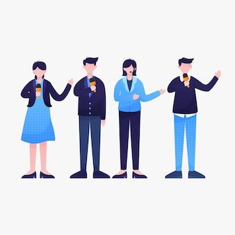 Set di illustrazione giornalista