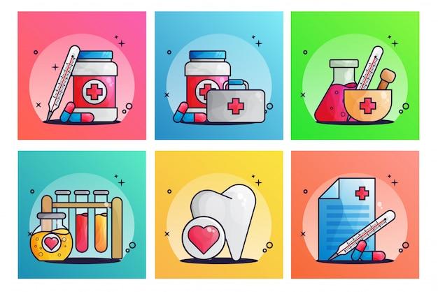 Set di illustrazione medica