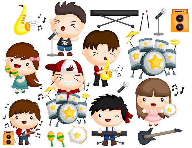 Set di immagini di musica band