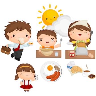 Set di immagini per la colazione