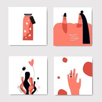 Set di immagini romantiche e d'amore