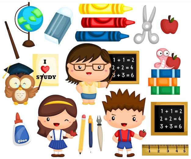 Set di immagini scolastiche