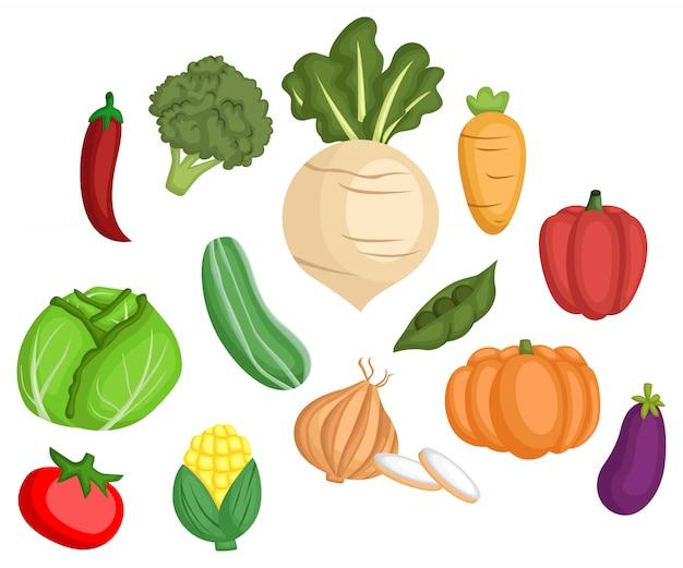 Set di immagini vegetali