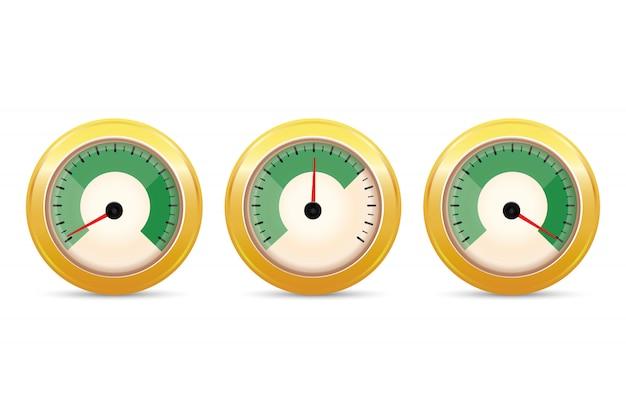 Set di indicatori di feedback positivo.