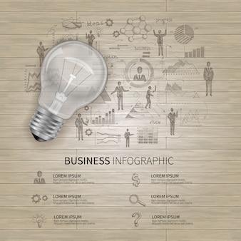 Set di infografica di affari