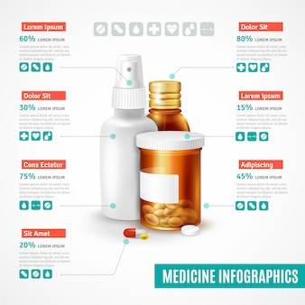 Set di infografica di medicina