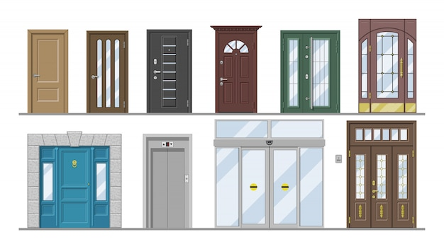 Set di ingresso anteriore della porta