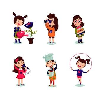 Set di interessi di ragazze