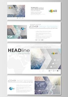 Set di intestazioni di social media e email, modelli di banner moderni.