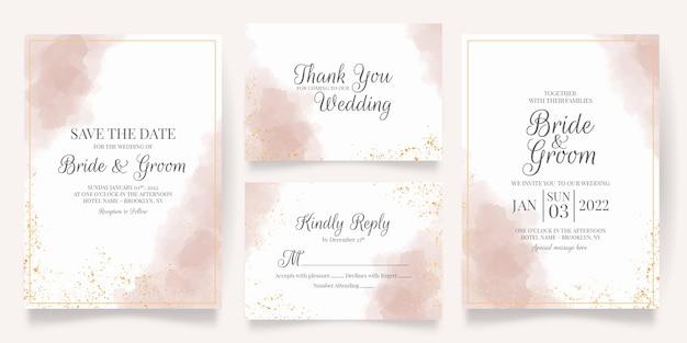 Set di invito a nozze ad acquerello