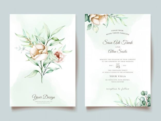 Set di invito di nozze eucalipto
