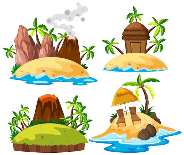 Set di isola isolata