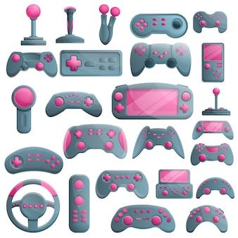 Set di joystick, in stile cartone animato