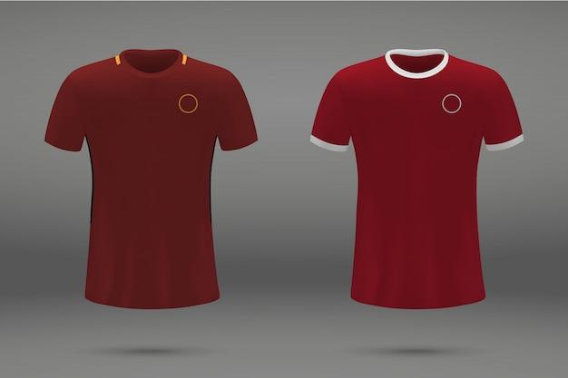 Set di kit calcio, modello di t-shirt per jersey da calcio.